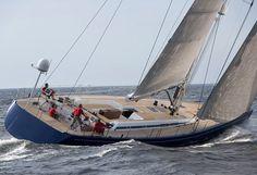 Big, beautiful, fancy boat. Swan 80 by Nautor's Swan - S version