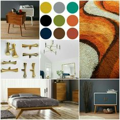A color scheme #moodboard for #midcenturymodern bedroom... #MoodBoardMonday is still on!!!!