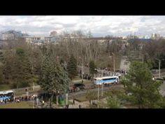 Паралимпийский огонь в Краснодаре. СОЧИ-2014. Встреча огня на улице Постовая.