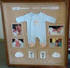 Moldura de Recordações de Bebé - http://coisasdamaria.com/moldura-de-recordacoes-de-bebe/