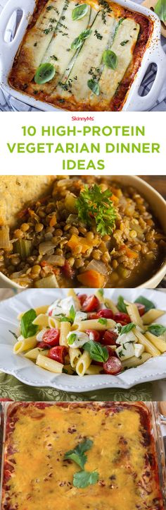 Try these 10 High-Protein Vegetarian Dinner Ideas! #cleaneating #highprotein #vegetarian