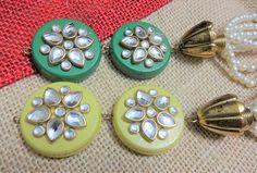 Long Tassel Beaded Tassel Purse & Handbag Decoration Kundan