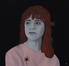 Sylvia Likens * 1949 - 1965 Oil on wooden board - 30 x 30 cm By Angela Dalinger