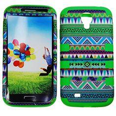 Samsung Galaxy S4 i9500 - TUFF duro híbrido de goma de silicona de alto impacto resistente indio azteca tribal verde / la cubierta del caso del protector goldSG http://www.amazon.es/dp/B00N6VNQPQ/ref=cm_sw_r_pi_dp_QaY2ub04W1CWB