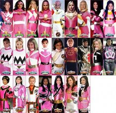 Just for the record that is all the pink rangers, there is one crimson and three-four white ranger in this photo Pink Power Rangers, Power Rangers Ninja Steel, Power Rangers Samurai, Mighty Morphin Power Rangers, Power Rangers Funny, Power Rangers Timeline, Power Ragers, Amy Jo Johnson, Power Rangers Megaforce