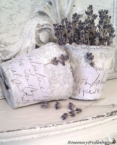 paint directly onto peat pots with acrylic for pretty texture