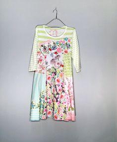Shabby Chic upcycled dress Upcycled summer clothing for