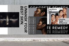 Concrete Remedy on Behance Graphic Design Art, Web Design, Sistema Visual, Visual System, Top Skin Care Products, Art Direction, Concrete, Art Photography, Remedies