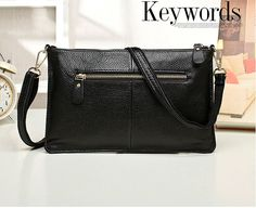 Black Fashion Casual Embossing Nappa Leather Messenger Shoulder Bags Leather Handbags, Crossbody Bag, Purses, Messenger Bags, Womens Fashion, Shoulder Bags, Female, Black, Casual