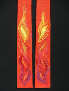 Red Liturgical Stole From Canterbury Collection-www.church-textiles.co.uk