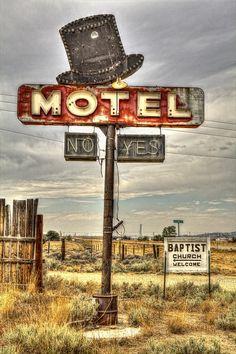 'No - Yes' Motel, Jeffrey City, Wyoming    Outskirts of the former uranium mining town of Jeffrey City, Wyoming