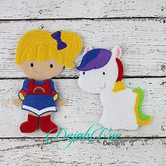 Brite Girl and Horse