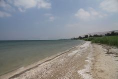 The beach of the Sea of Galilee