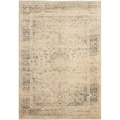 Safavieh Vintage Warm Beige Rectangular Indoor Machine-Made Distressed Area Rug (Common: 10 x 14; Actual: 10-ft W x 14-ft L)