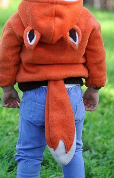 fox hoodie w tail