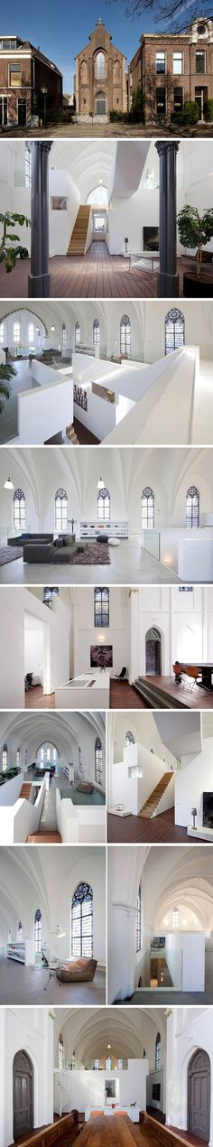St Jakobus Church converted into a home acchomplished by Zecc Architects location in Utrecht, Netherlands