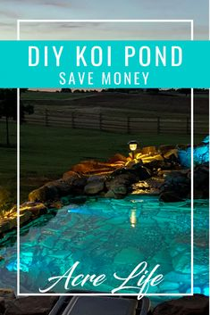Want the beauty and relaxation of a koi pond without the expense? See how we were able to save $4000 by building a koi pond ourselves.