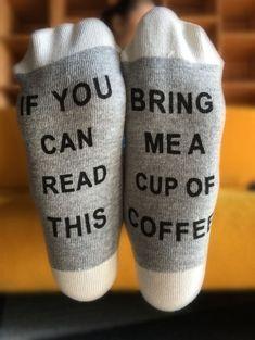 Socks & Hosiery | Gray Funny Letter Graphic Pattern Knitted Socks - Gamiss