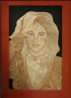 Barbara Mandrel  Hollywood star in leaf art  by museumshop on Etsy, $149.00   Hollywood star Handmade leaf art  by museumshop, $129.00. No color paint or dye added to the natural color of rice straw (Dried leaves of rice plant).  This portrait is not a photo, painting, print but handmade with thousands of tiny pieces of rice straw.  COLLECTIBLE LEAF ART.