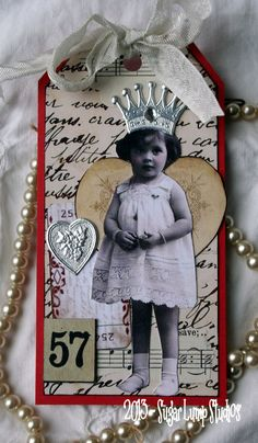 Let Me Call You Sweetheart Altered Collage Tag