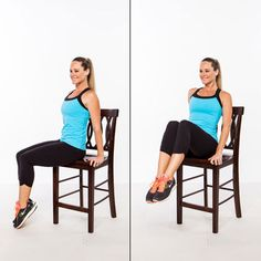 Abs Workout: 6 Effective Ab exercises you can do with a chair. Stand Up for a Flat Stomach!