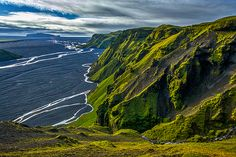 Photograph by Stuart Litoff.  The #highlands just north of #Vik, #Iceland