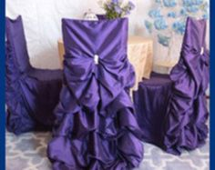 Black and White chair cover set Black and by SanDiegoPinkWedding