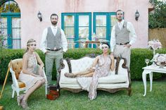 The great gatsby lawn party