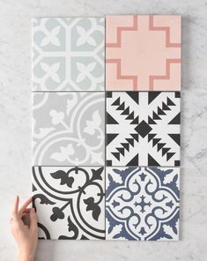 We can't wait to see the beautiful homes that will be created with this collection. 🏡 These tiles were designed by us, by listening to you 📌. Available for delivery Australia-wide. Hamptons House, The Hamptons, Wall Colors, Colours, Laundry Design, Encaustic Tile, Street House, Laundry In Bathroom, Home Reno