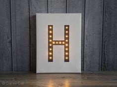 Light up letters, letter lights, nordic design, led letters, marquee letter, custom, A B C D E F G H I J K L N O P Q R S T U V W X Y Z & by COSnieCOS on Etsy