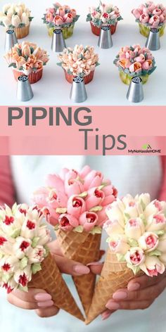 Good idea for desserts Russian Cake Tips, Russian Piping Tips, Russian Cakes, Fondant Flower Tutorial, Fondant Flower Cake, Buttercream Flower Cake, Fondant Baby, Frosting Techniques, Frosting Tips