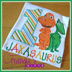 Personalized Dinosaur Train Birthday T-Shirt with by GrangiesGifts