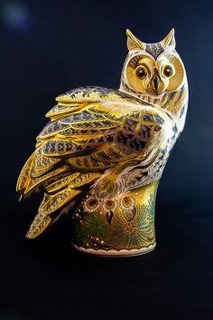 Royal Crown Derby Figurine - Long Eared Owl