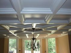 Modern Ceiling Design Coffered Ceiling Designs Interior Home Design Photos Home Design, House Design Photos, Design Ideas, Home Interior, Interior Decorating, Decorating Ideas, Ceiling Treatments, Floor Colors, Fireplace Wall