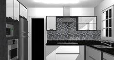 Apostar na Tonalidade das cores preto e branco na cozinha é sofisticação e conforto área gourmet.