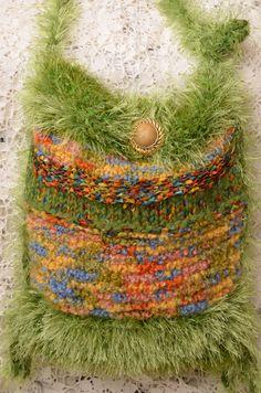 EASTER Summer.  Knit  Purse Handbag Bag Tote. by HandbagsByDyana, $69.99