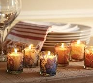 Peony Decoupage Votive Candles by Pottery Barn