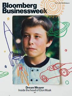 Bloomberg Businessweek Cover, with a photo provided by Elon Musk's mom. Poster Design, Graphic Design Posters, Graphic Design Illustration, Graphic Design Inspiration, Book Cover Design, Book Design, Layout Design, Ux Design, Editorial Layout