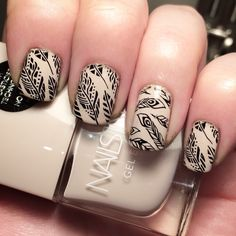 Nail art using Nails Inc 'Colville Mews' and 'Seche Vite' topcoat from June's #nailbox #nailboxuk. Also using @moyou_london 's 'black knight' stamping polish and 'Topical plate 19' loved using the 'cuticle nippers' they are really easy to use.