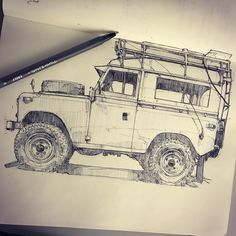 piscitellidesign | Series II Land Rover that was parked at the @petersenmuseum