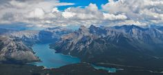 View of the Rockies from Cascade Mountain in Banff. [2592x1203][OC]