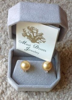 Maui Diver 14k Yellow Gold W/ Golden South Sea Pearls & Diamonds Jewelry Would so match my ring!