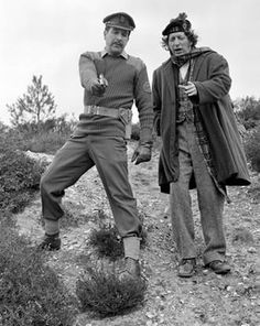 tom baker stills | Nicholas Courtney with Tom Baker's Doctor; from the tartan scarf ...