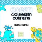 Cute number cards for use in your Math Center bins, especially if you are doing a ocean theme!  Printable cards for use in math centers for countin...