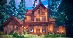Minecraft Villa, Minecraft House Plans, Minecraft House Tutorials, Minecraft Farm, Easy Minecraft Houses, Minecraft House Designs, Minecraft Decorations, Minecraft Tutorial, Minecraft Blueprints