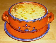 Zwiebelsuppe, französische Art, ein sehr leckeres Rezept aus der Kategorie Warm. Bewertungen: 158. Durchschnitt: Ø 4,5.