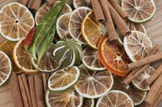 Citrus windows - dry slices of citrus including blood orange and grapefruit and limes