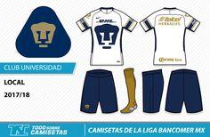 Camisetas de la Liga MX 2017-18 - Pumas