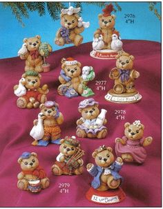 12 Bears of Christmas 2976 Gare ***, Dolls to Make