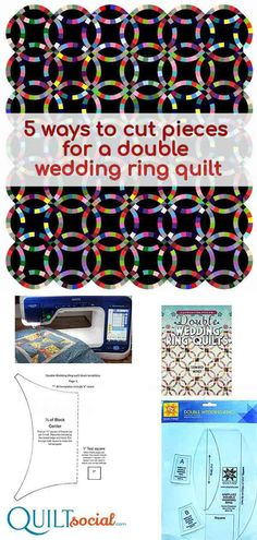 Gone are the days of having to cut pieces by hand using templates. Modern quilters can use a variety of different methods to accurately cut the pieces for this classic pattern. A free bed runner pattern and tutorial for the double wedding ring design using the Dreamweaver XE